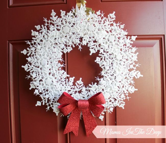 Dollar Store Snowflake Wreath