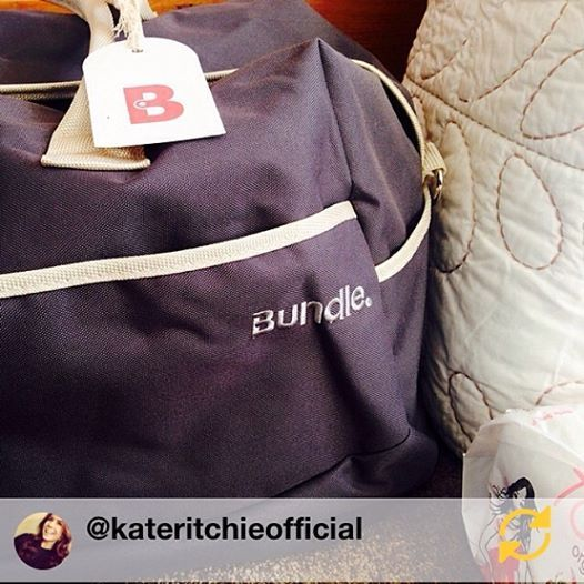 "Kate Ritchie had this to say about her Bundle Bag on Instagram: ""Is it ever too early to be packed? Thanks @bundlebags for my well stocked overnighter.. What a fab idea! KR x #bundlebags #prepared #perfectgift #notlongnow"""