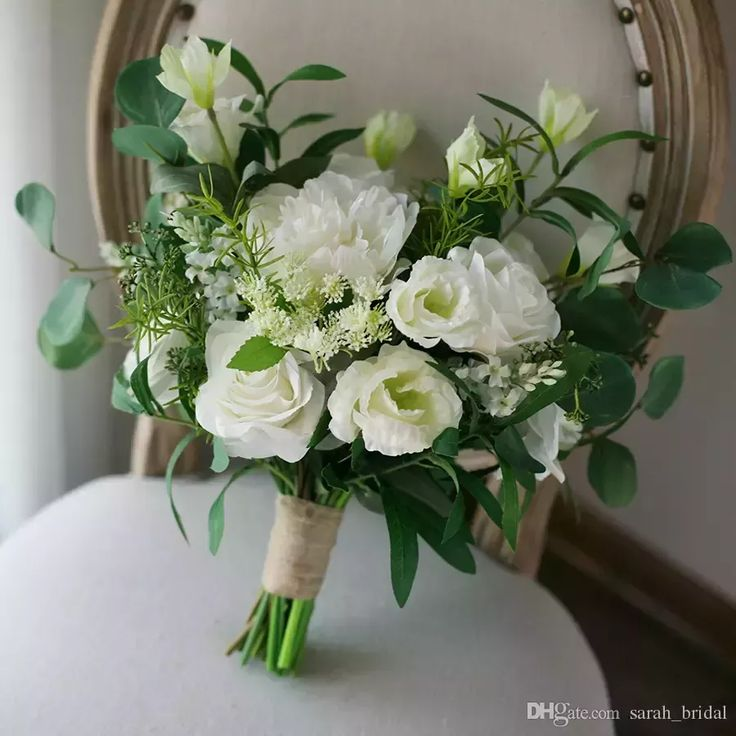 White Green Country Artificial Bridal Bouquets 2018 Mori Peony Leaves Forest Irregular Wedding Supplies Bridesmaids Holding Brooch Bouquet Bride Holding Brooch Bouquet Mori Bride Bouquet Artificial Wedding Bouquet Online with $112.0/Piece on Sarah_bridal's Store | DHgate.com #whitepeonies #weddingbouquets