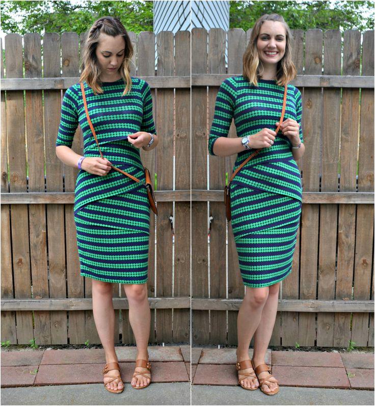Easiest Nursing Dress Hack // DIYmaternity.com