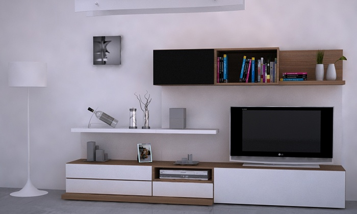 Modulor - mueble tv + biblioteca www.rodenmobel.com