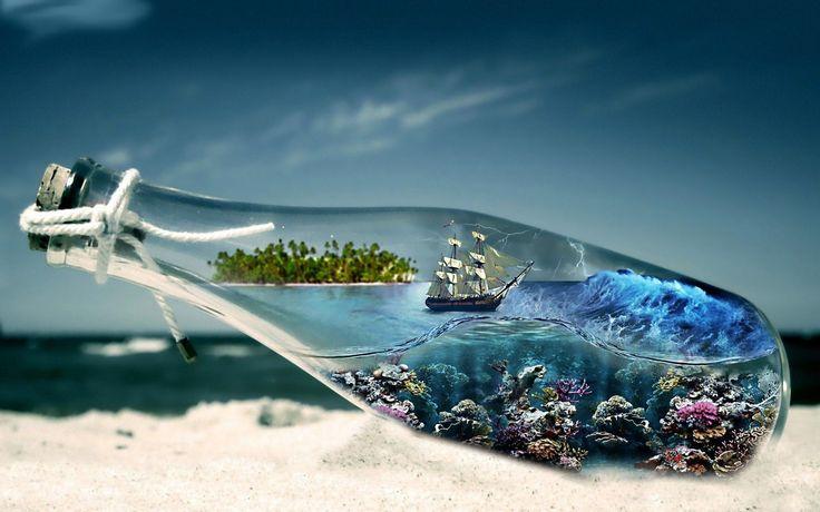 The World In An Abstract Glass Desktop HD Wallpaper