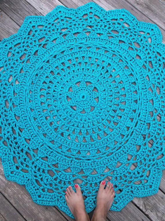 377 Best Crochet Rug Images On Pinterest Doilies Crochet