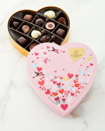 Valentine\'s+Day+Heart+Gift+Box,+14+Pieces++by+Godiva+Chocolatier+at+Horchow.