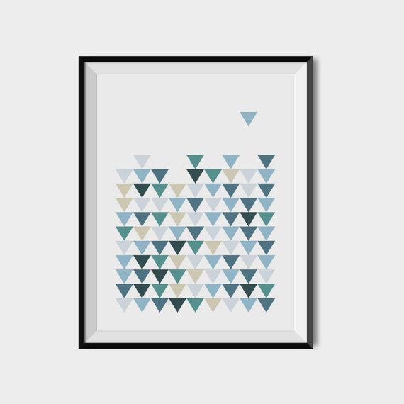 Pattern printable art Scandinavian triangles by 2eggsProject