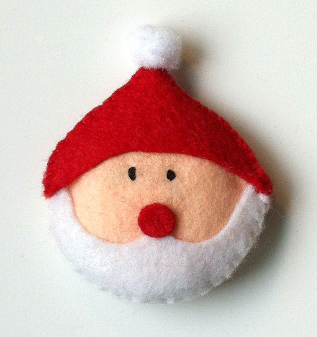filt nisse julemand - felt santa - julepynt - christmas ornament