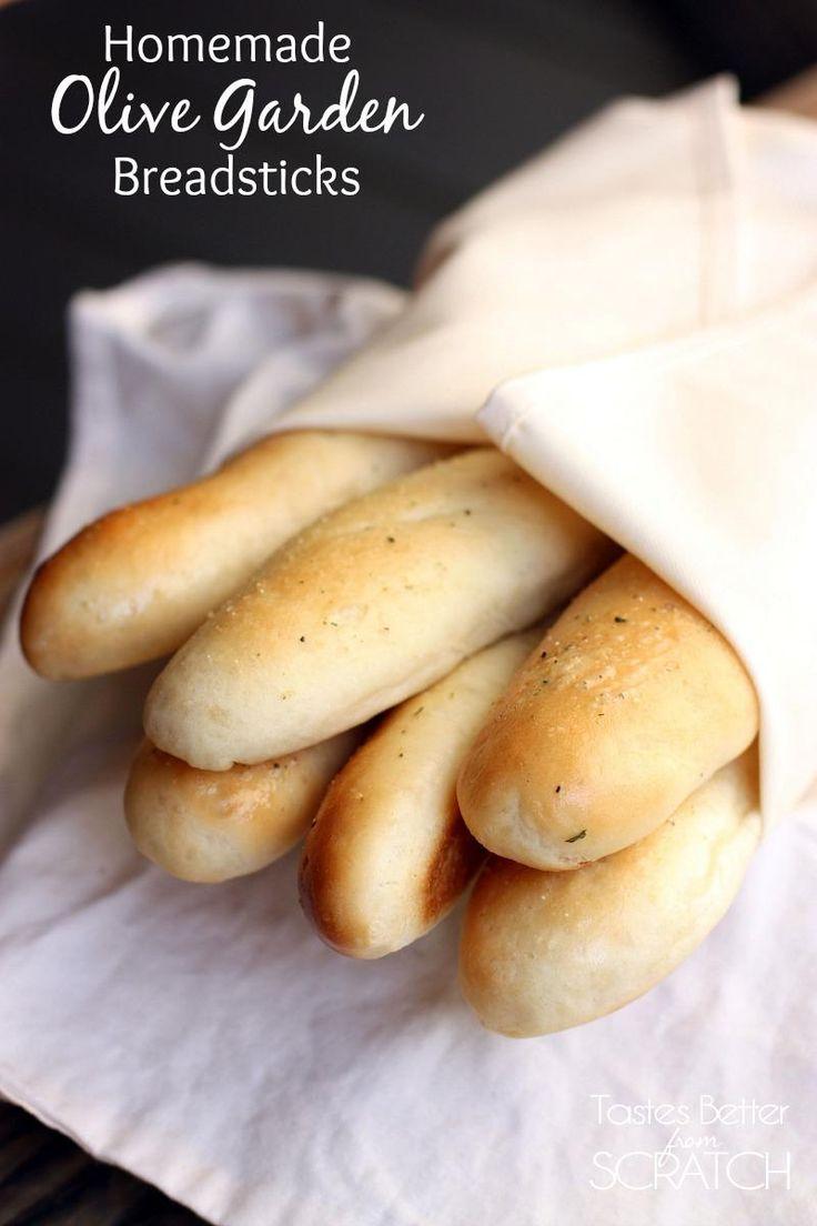 Homemade Olive Garden Breadsticks recipe on http://tastesbetterfromscratch.com #breadsticks #olivegarden