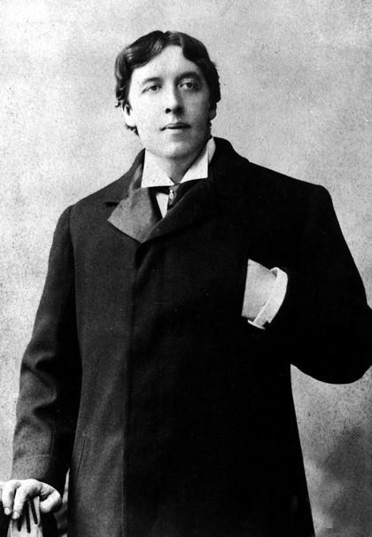 """""""Some cause happiness wherever they go; others whenever they go."""" Oscar Wilde (Photo: 1895)"""