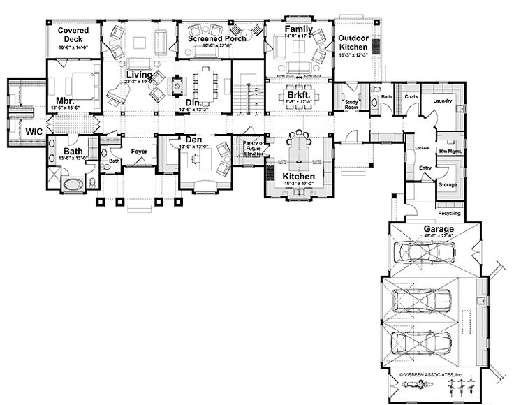 25 best ideas about l shaped house on pinterest for Large ranch home floor plans