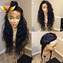 Natural Wave Human Hair Lace Wigs Glueless Full Lace Human Hair Wigs With Baby Hair Water Wave Lace Front Wigs For Black Women(China (Mainland))