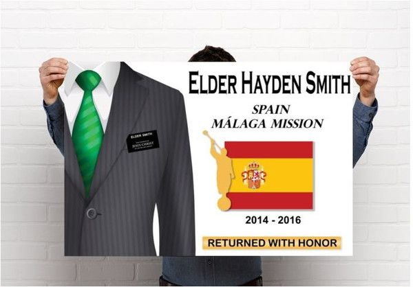 Personalized LDS Missionary Homecoming Poster IMAGE ONLY! – Missionary Momma Mall Buy image and have it printed at a place of your choice!!