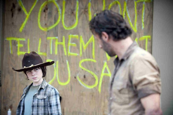 the walking dead rick and carl photos | The Walking Dead's Rick and Carl Grimes — Their Best Father/Son ...