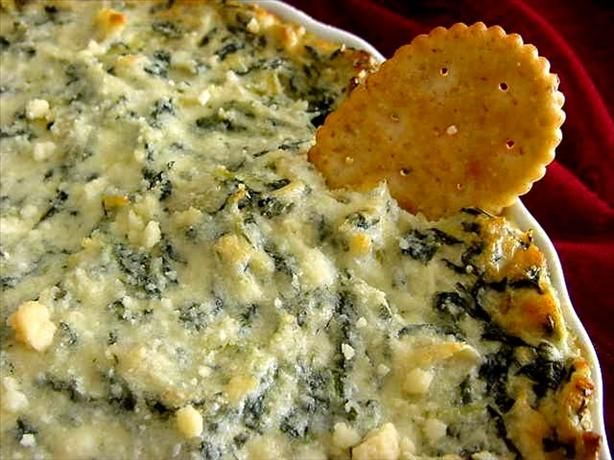 "#18 - Spinach Artichoke Dip: ""This dip was a big hit with my friends! I substituted mushrooms for artichoke hearts and it was absolutely delicious. Great heated up the next day too!"" -Meadow Camacho"