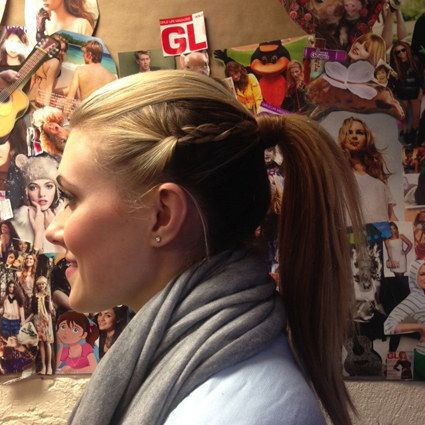 If you have side pieces that frequently fall out, braid the sides. | 27 Tips And Tricks To Get The Perfect Ponytail