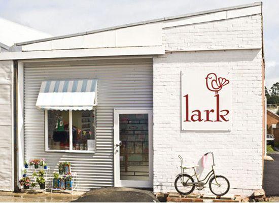 Lark. Gorgeous shop front.