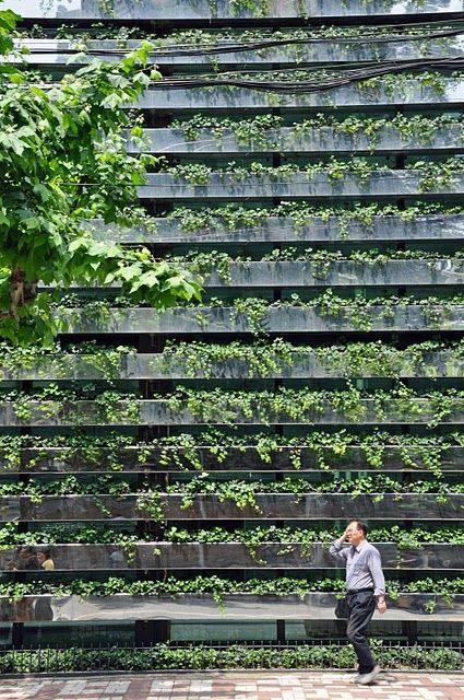 Green Facades by Kengo Kuma. This guy has recently entered the running to be my favorite architect.