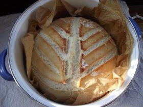 Köszönöm mindenkinek a fogadtatást, és látom, hogy van sok érdeklődő a házi kenyérsütésre.   Hoztam most egy egyszerű kovászolt kenyér rec...