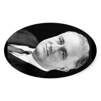 32 Franklin Delano Roosevelt Oval Sticker - sticker stickers custom unique cool diy