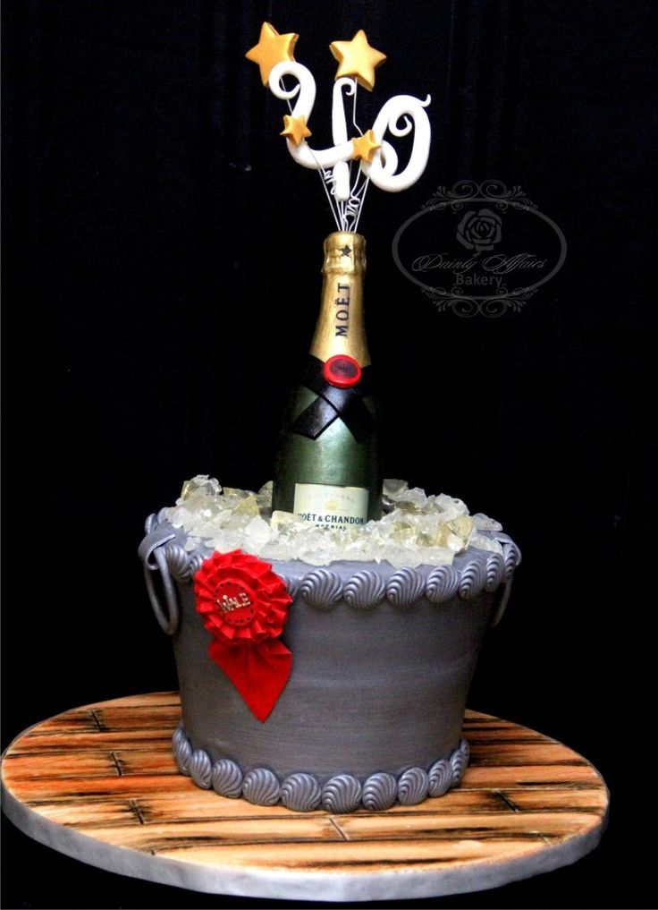 18 Best Champagne Ice Bucket Cake Images On Pinterest