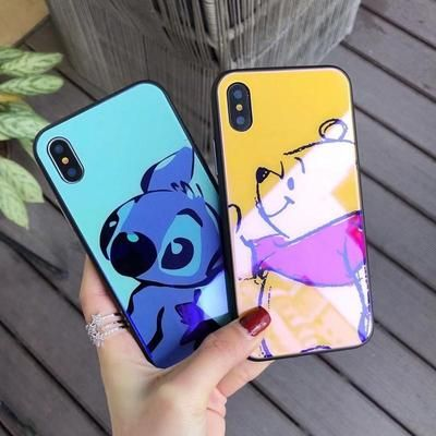 Disney's Stitch Tempered Glass Phone Case