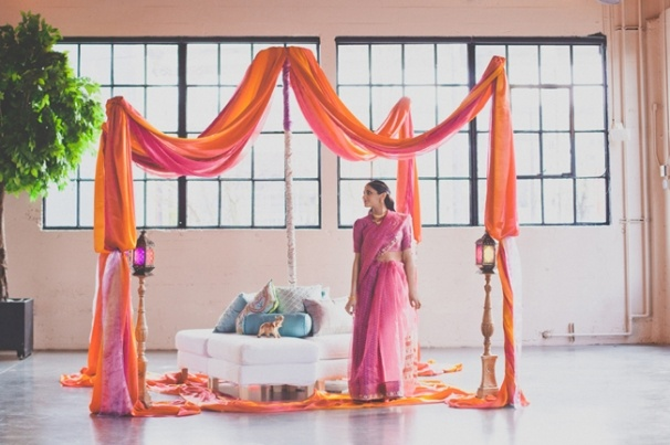 How to Make a Mandap: Indian Wedding DIY. Shot by Hazelwood Photo.