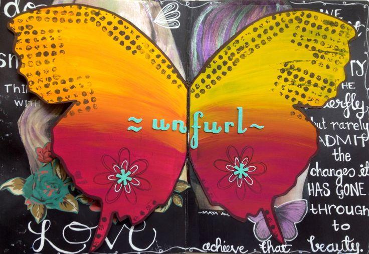 Art journaling #artjournal #unfurl #thecraftypalette #dylusionspaint