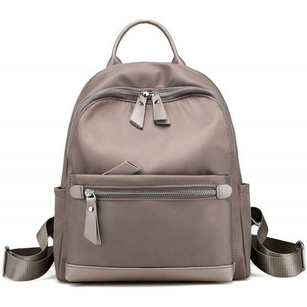 Fashion Women Backpack Travel Rucksack Handbag Zipper Shoulder Bag Black//Khaki