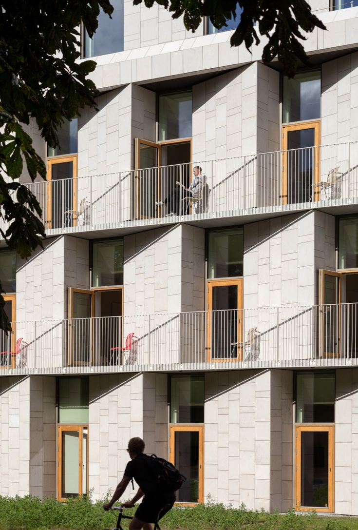Balcony design ideas in apartment grenoble france home design and - Image 2 Of 21 From Gallery Of Patient Hotel 3xn Photograph By Adam M Rk