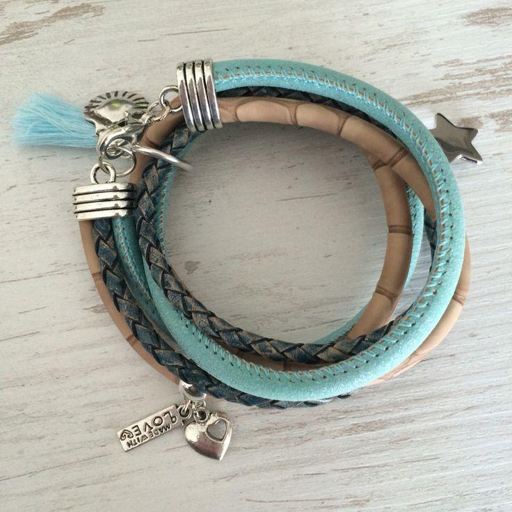 Armband met leer
