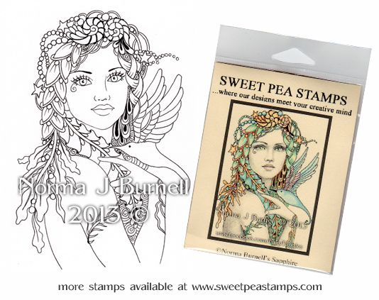 Sapphire - Original Fairy Tangles™ designs by Norma J Burnell
