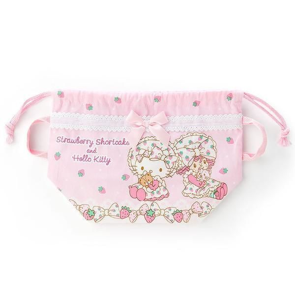 Sanrio Hello Kitty × Strawberry Shortcake Lunch Drawstring Bag  1adf152f2ecd0