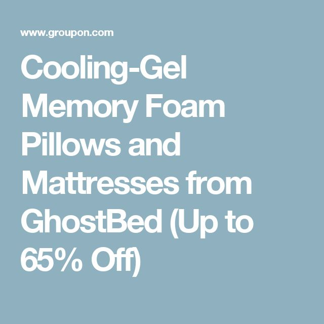 Cooling-Gel Memory Foam Pillows and Mattresses from GhostBed (Up to 65% Off)