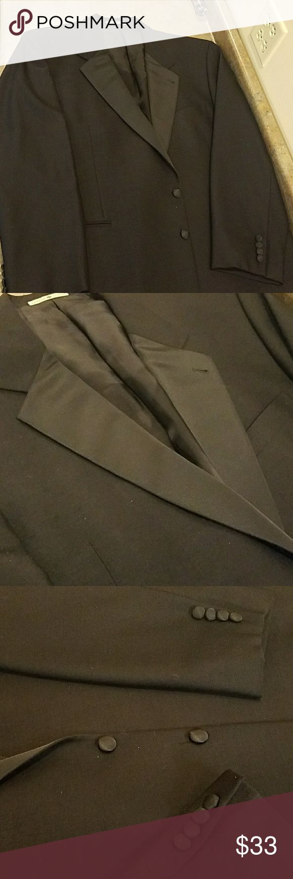 Men Tux Jacket...46 Long. WHY RENT?🕴Joseph Abboud Excellent condition ..Just jump into a pair of black dress pants and black shoes...you good to go🕴  WHY rent? Joseph Abboud Suits & Blazers Tuxedos