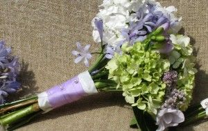pomander green and blue hydrangea wedding flower bouquet Archives - The Wedding Specialists
