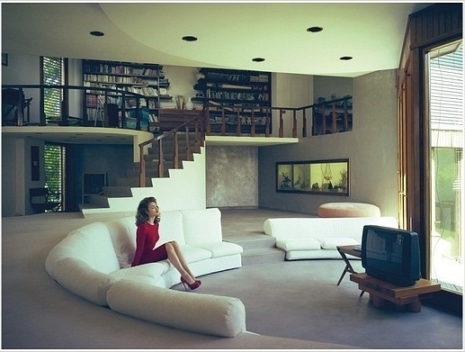 built in couch is amazing. too bad about their tv...