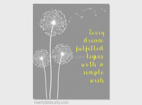 Every Wish Dandelion Quote Art Prints Quotes Dandelion