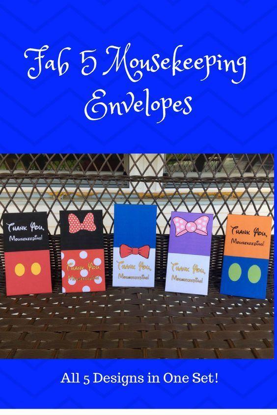 Printable Fab 5 Mousekeeping Envelopes Adorable Envelopes To Hold