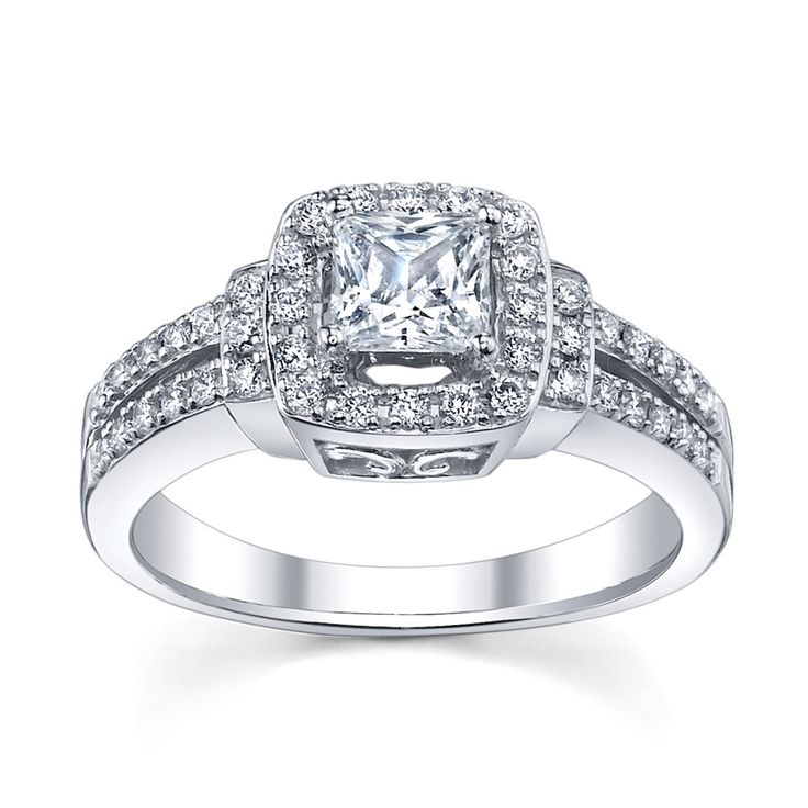 Princess Cut Engagement Ring with Split Shank from www.RobbinsBrothers.com (sku0377934)