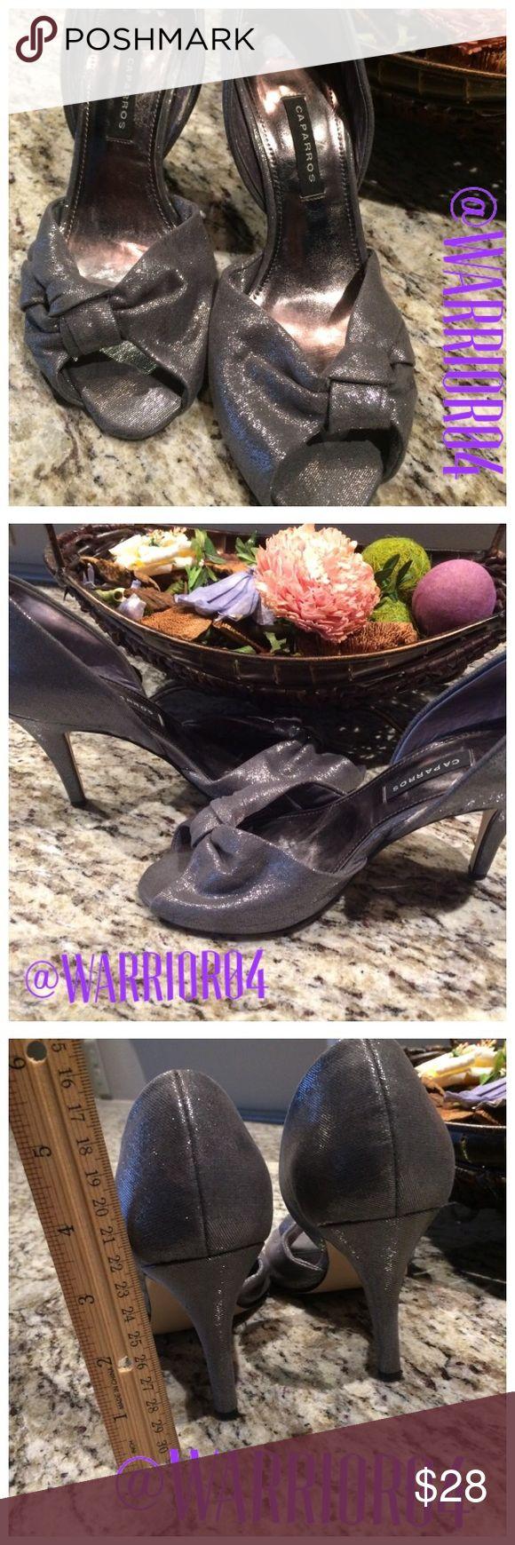 Caparros Silver Bow Heels Size 6.5 Caparros Silver Bow Heels Size 6.5 Caparros Shoes Heels