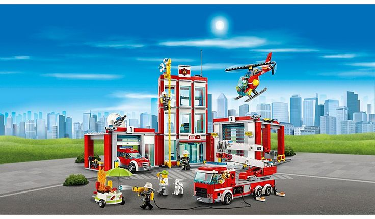 LEGO City - Fire Station - 60110, read reviews and buy online at George at ASDA. Shop from our latest range in Kids. Help the firefighters get the truck and hel...