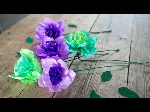 DIY: Make flowers from crepe paper by Søstrene Grene - YouTube