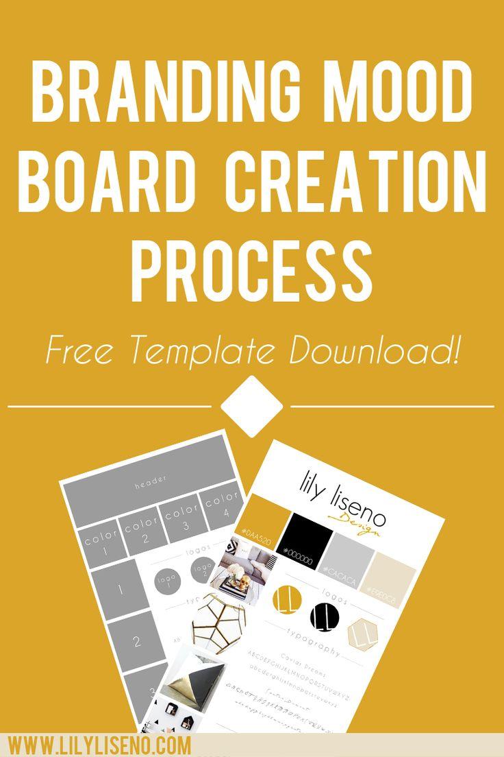 free branding mood board template