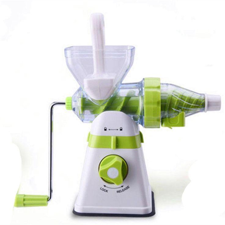 Portátil manual de exprimidor lento extractor de mezcla fresca de la salud apple/orange exprimidor máquina de cocina de maíz herramientas