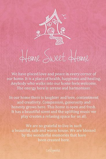 Affirmation - Home - by CarlyMarie