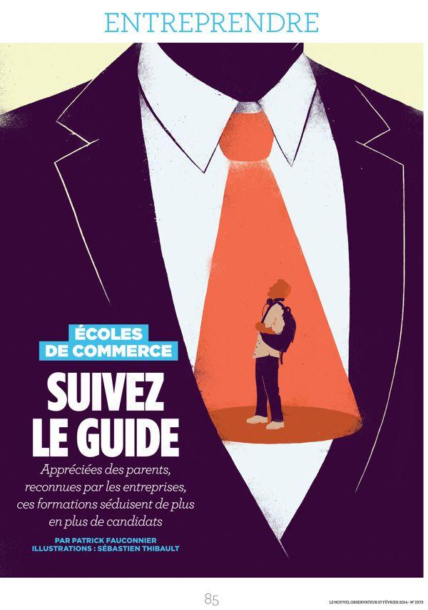 Le Nouvel Observateur - Suivez le guide by Sébastien Thibault, via Behance