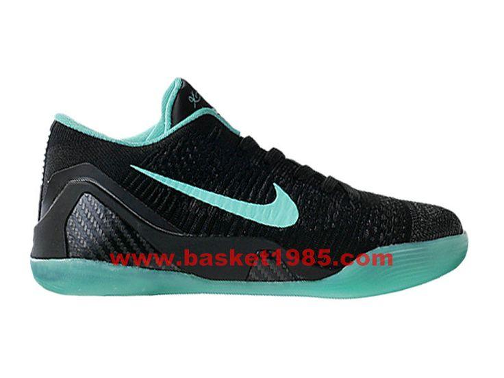 buy online 8e18b 09556 ... low price nike kobe 9 elite low chaussures de basket pas cher pour homme  noir vert ...