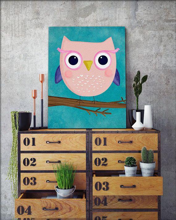 Buho para imprimir pared arte Descarga por HelloHappyStudio