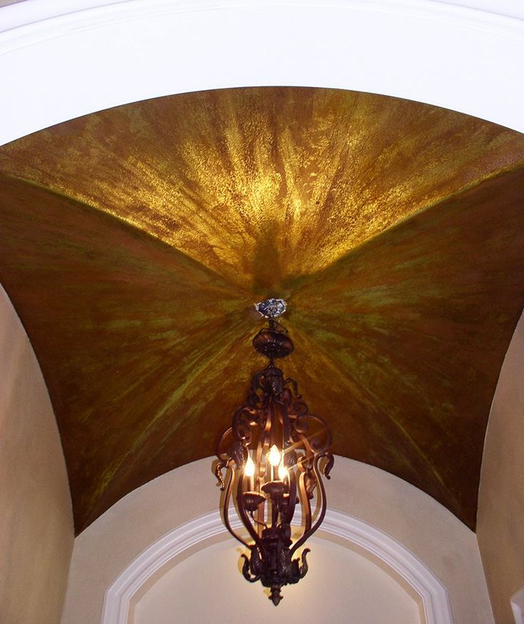 Mary Childs of Focal Points used our Metal Effects products to create this amazing groin ceiling!