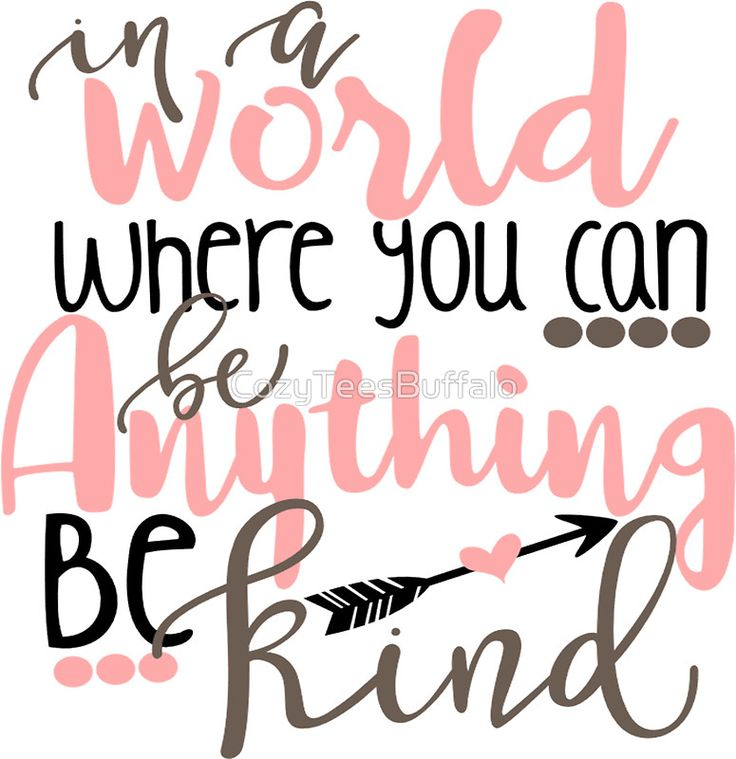 In A World Where You Can Be Anything Be Kind Quote Kindness Pink Tribal Arrow by CozyTeesBuffalo