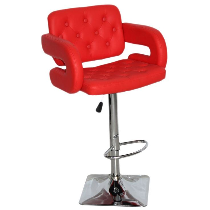 Olivia Adjustable Swivel Bar Stool (Red) (Faux Leather)  sc 1 st  Pinterest : red bar stool chairs - islam-shia.org